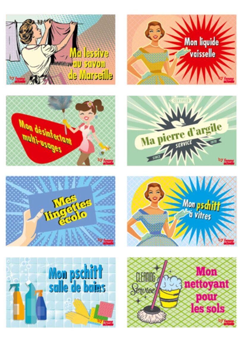 Etiquettes Gratuites A Imprimer Pour Vos Produits Menagers Fait Maison Femme Actuelle Le Mag